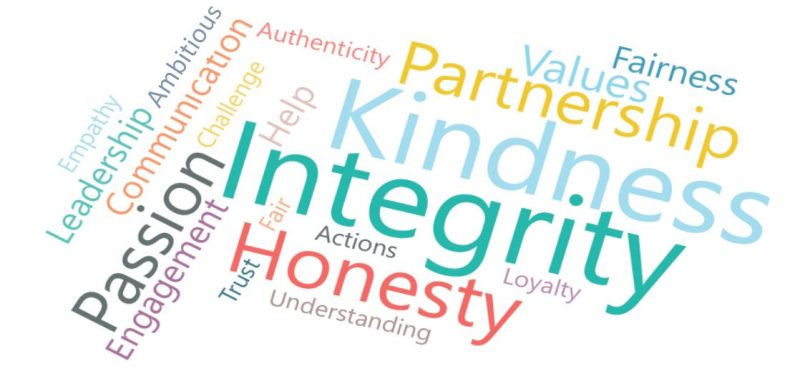 What you have been saying about the DCFP in words: integrity, kindness, partnership, honesty and passion are key