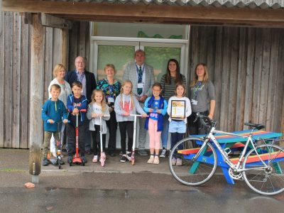 Big Pedal award winners at Pinhoe Primary