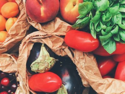 bags of fruit and veg