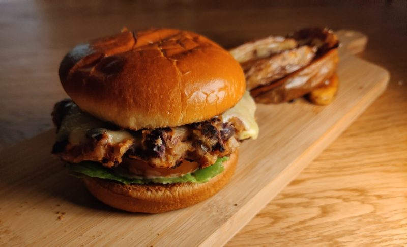 a veggie burger