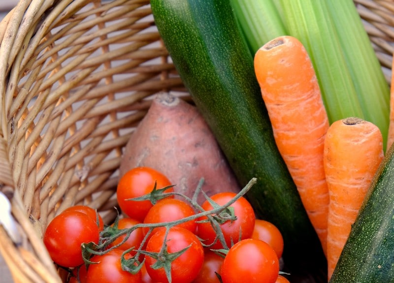 a basket of fruit and veg