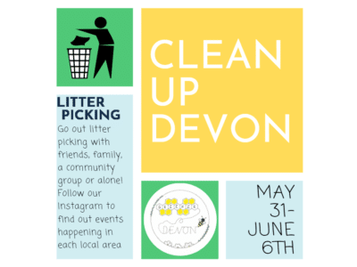 a poster for the Clean Up Devon campaign