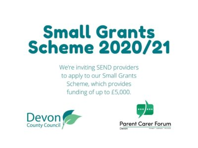 a poster announcing the launch of the Small Grant Scheme for 2020/21