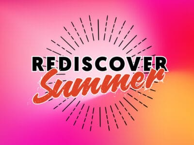a Rediscover Summer poster